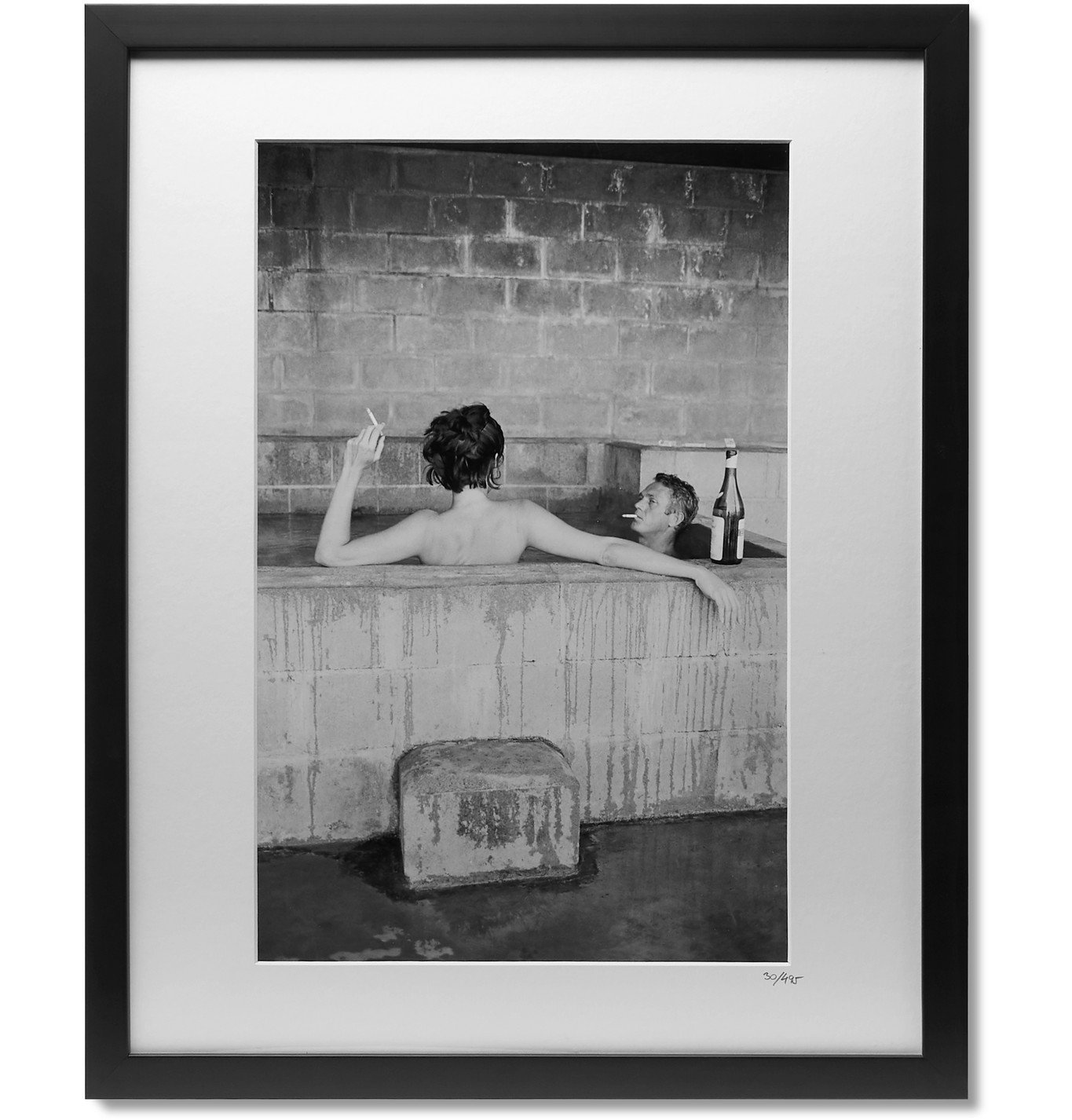 """Photo: Sonic Editions - Framed 1963 McQueen and Adams Print, 16 x 20"""""""" - Black"""