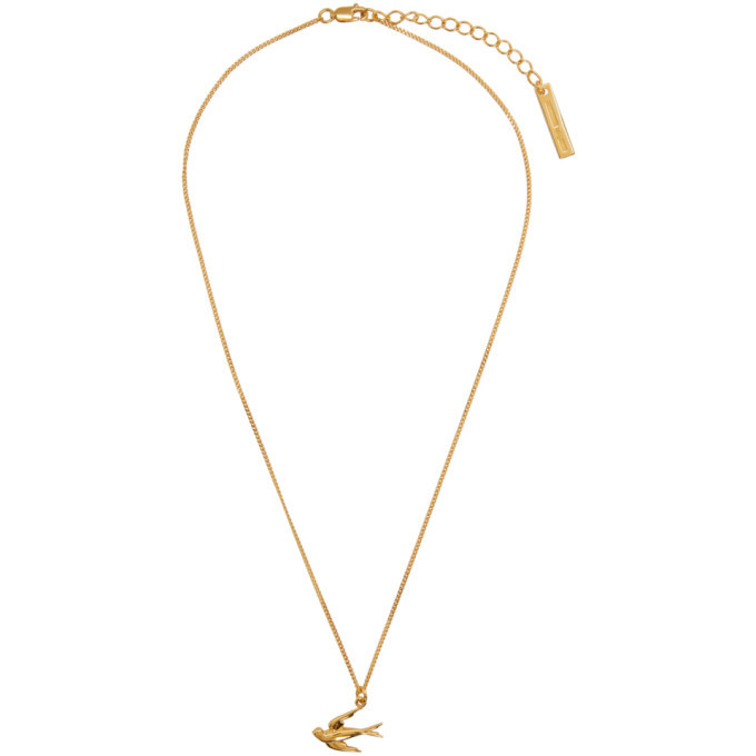 Photo: McQ Alexander McQueen Gold Swallows Necklace
