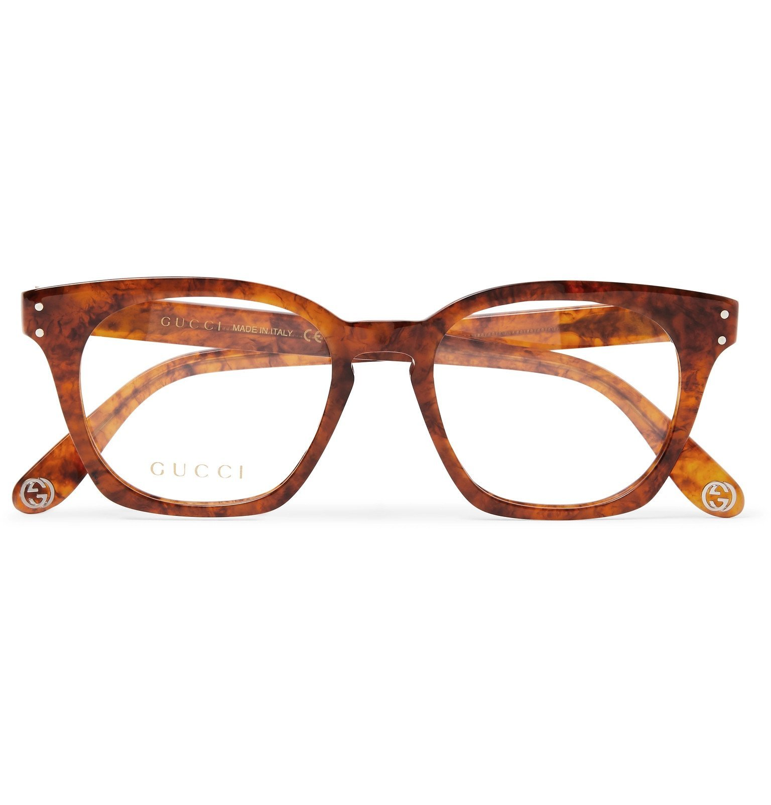 Photo: Gucci - Square-Frame Acetate Optical Glasses - Brown