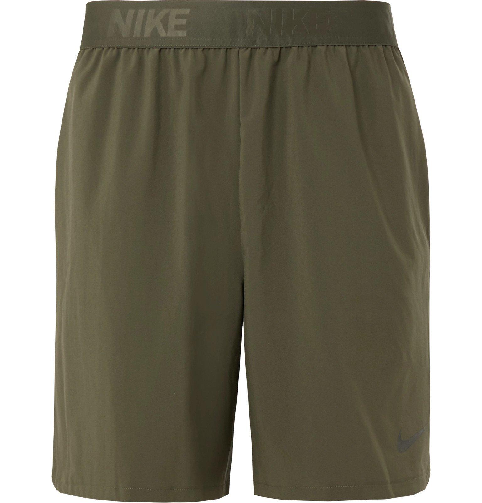 Photo: Nike Training - Flex Stretch-Shell Shorts - Green