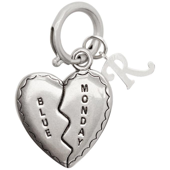 Raf Simons Silver Broken Heart Charm Keychain