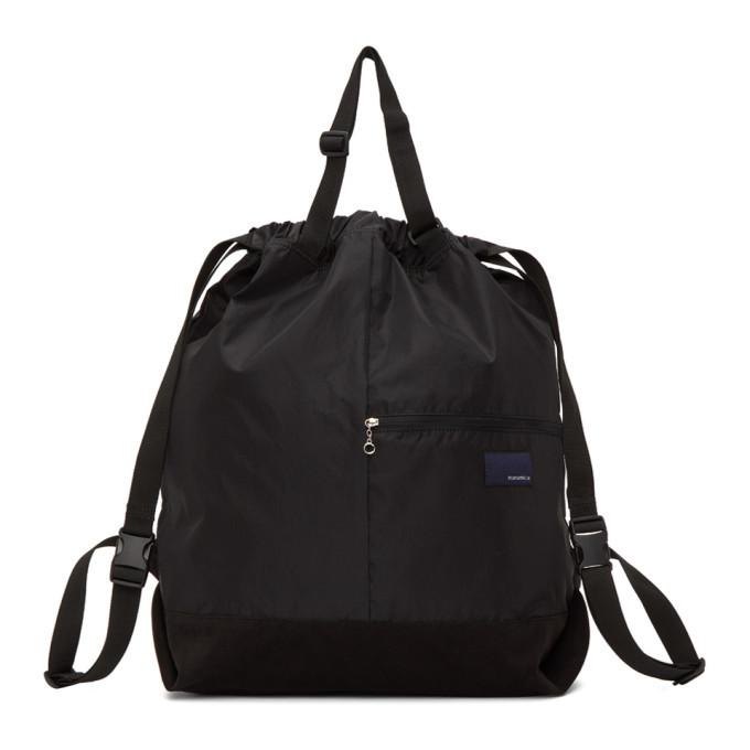 Photo: Nanamica Black Two-Way Messenger Bag