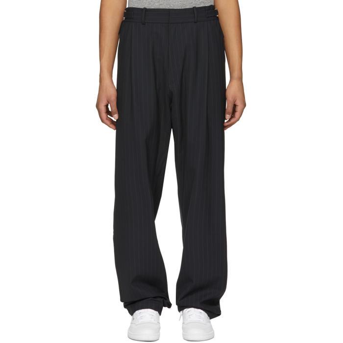 GmbH Navy Pinstripe Tarek Trousers