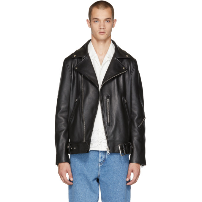 Photo: Acne Studios Black Nate Clean Leather Jacket
