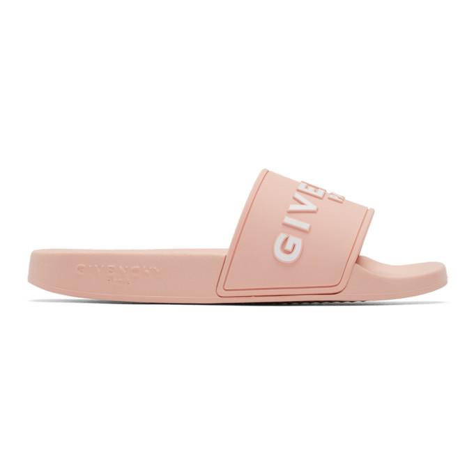 Photo: Givenchy Pink Logo Pool Slides