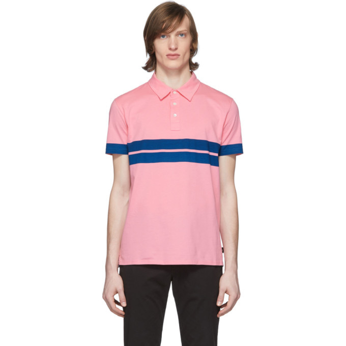 Photo: PS by Paul Smith Pink Stripe Sport Polo