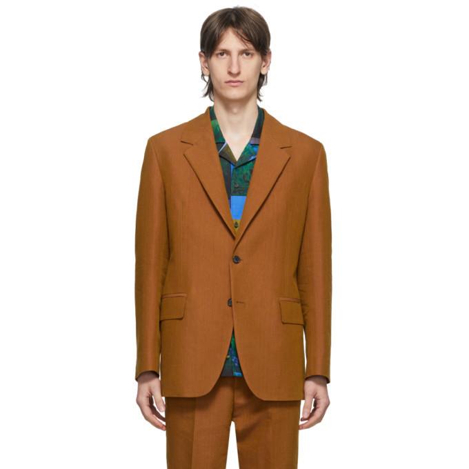 Photo: Acne Studios Orange Single-Breasted Suit Blazer
