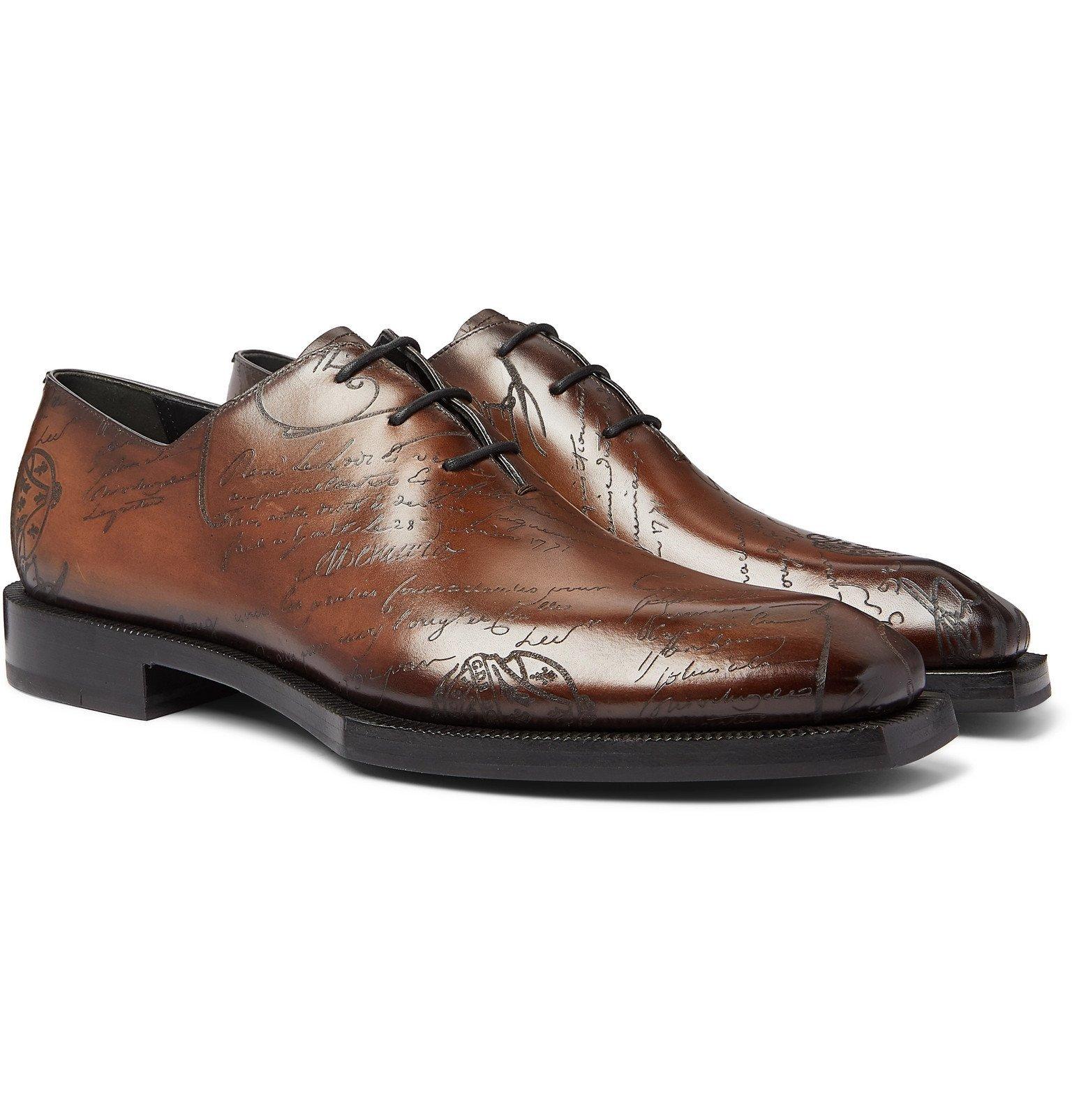 Photo: Berluti - Alessandro Scritto Leather Oxford Shoes - Brown