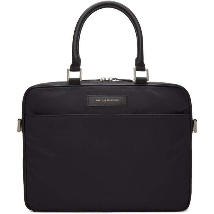 Photo: Want Les Essentiels Black Haneda Computer Briefcase
