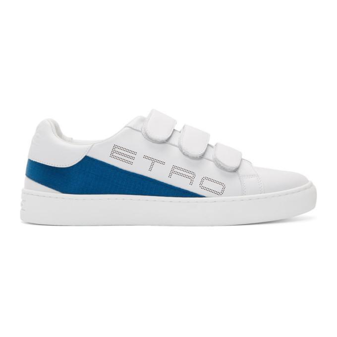 Photo: Etro White Logo Trainer Sneakers