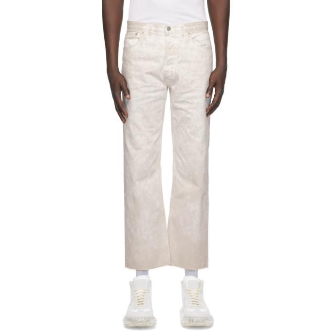 Photo: Maison Margiela White Denim Marble Wash Jeans