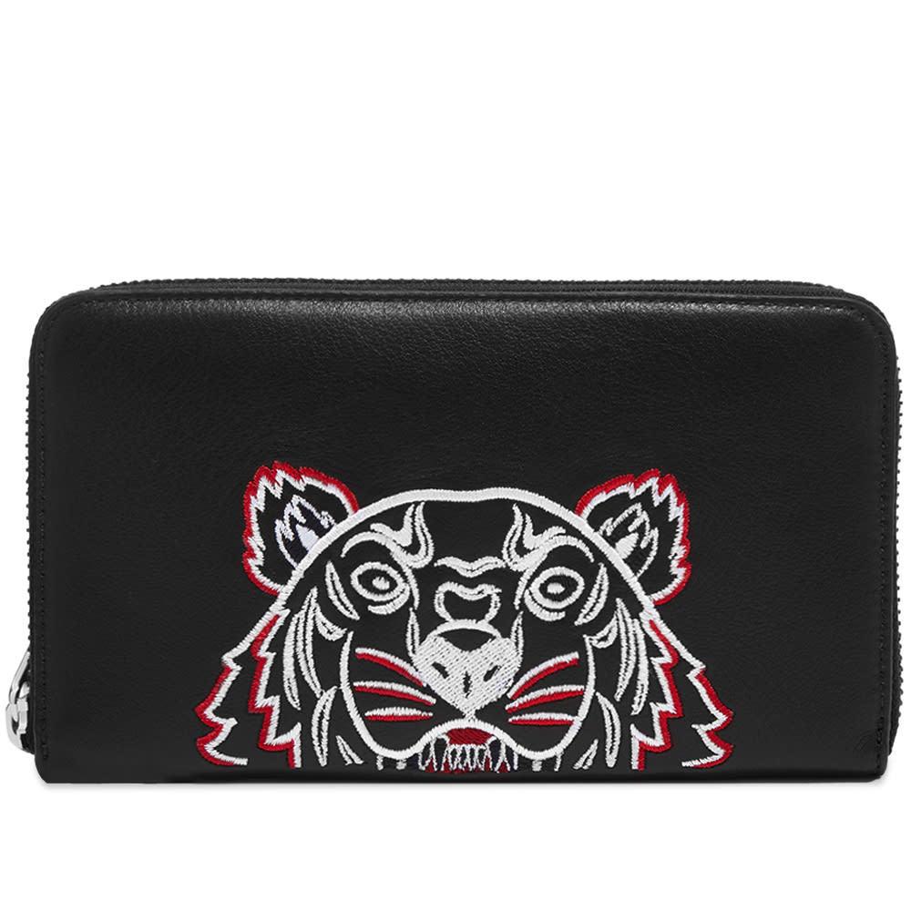 Photo: Kenzo Tiger Leather Long Zip Wallet