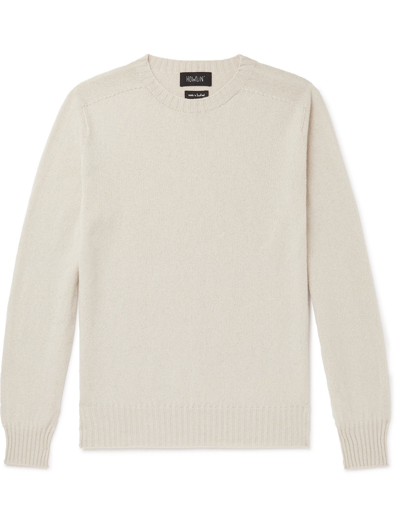 Photo: HOWLIN' - Wool and Cotton-Blend Sweater - Neutrals - S