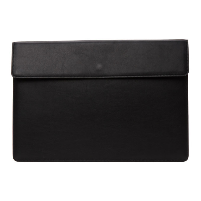 Photo: Common Projects Black Leather Dossier Pouch
