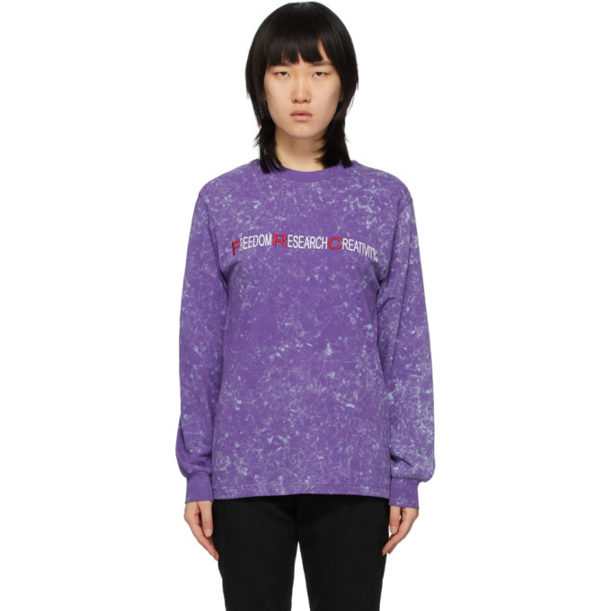 Photo: 032c Purple Freedom Research Creativity Long Sleeve T-Shirt