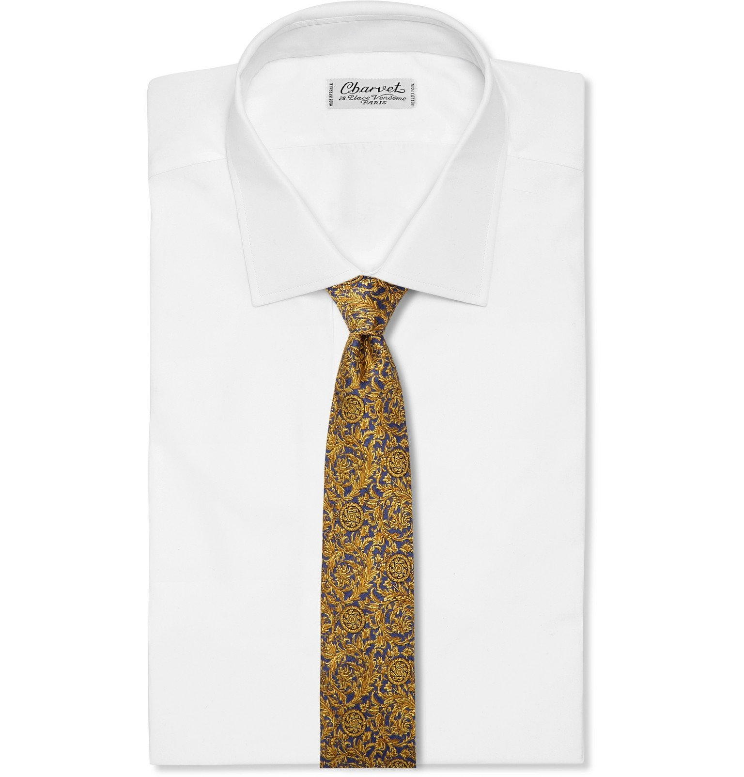 Versace - 8cm Silk-Jacquard Tie - Blue
