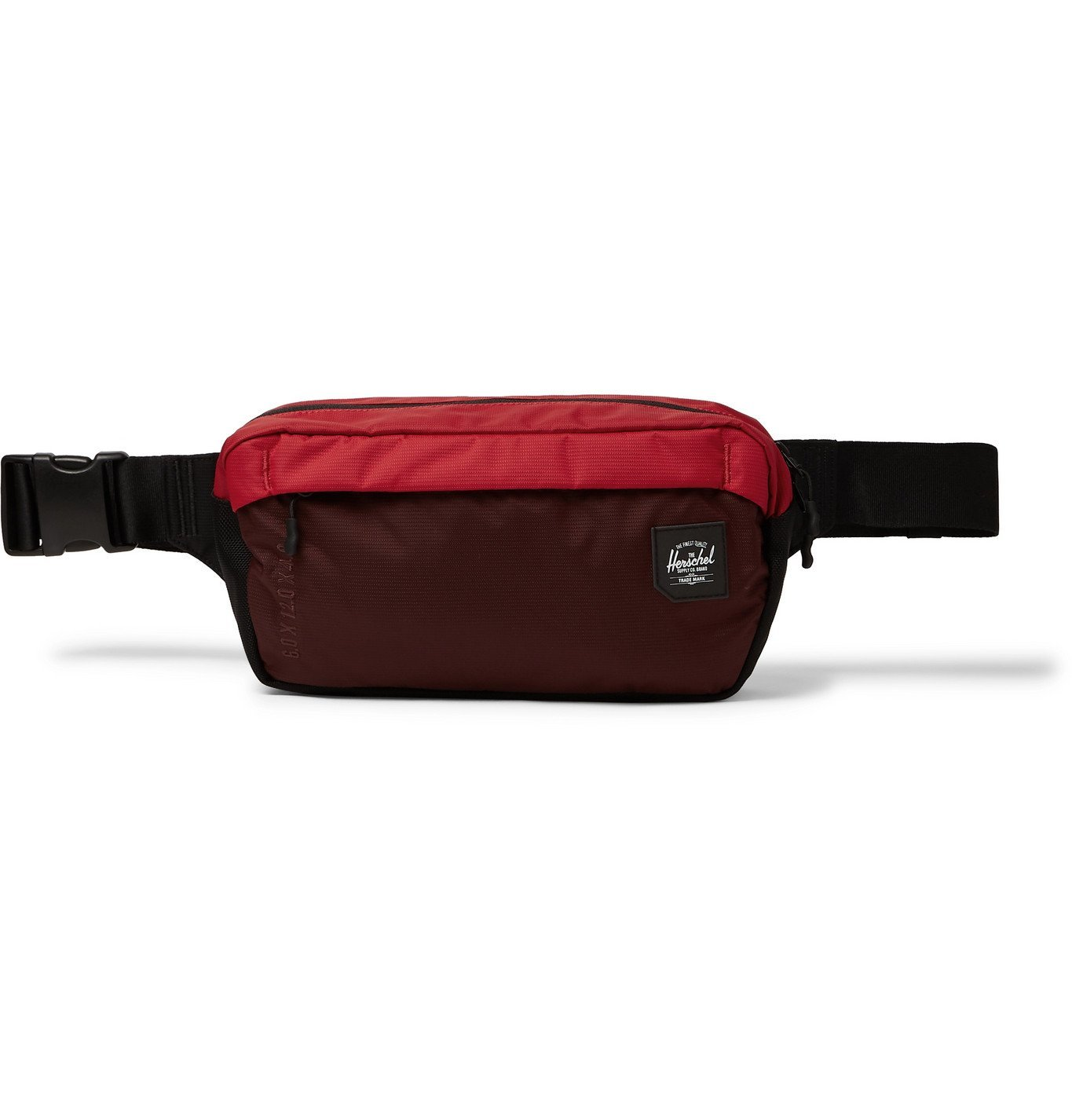 Photo: Herschel Supply Co - Tour Nailhead Dobby-Nylon Belt Bag - Burgundy