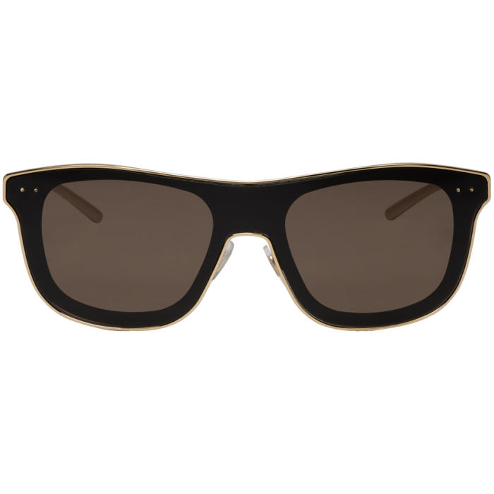 Photo: Dolce and Gabbana Gold and Black Square Sunglasses