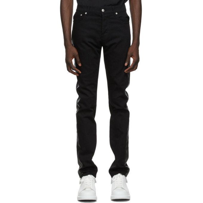 Photo: Alexander McQueen Black Paneled Jeans