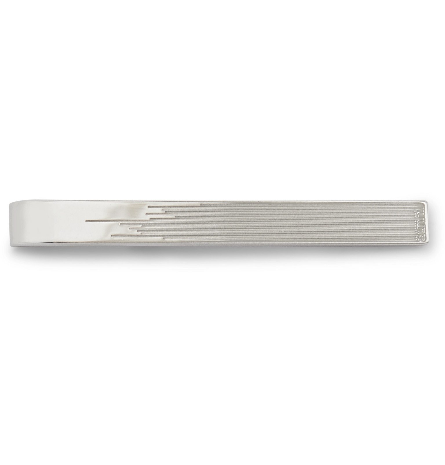 Dunhill - Logo-Engraved Sterling Silver Tie Bar - Silver