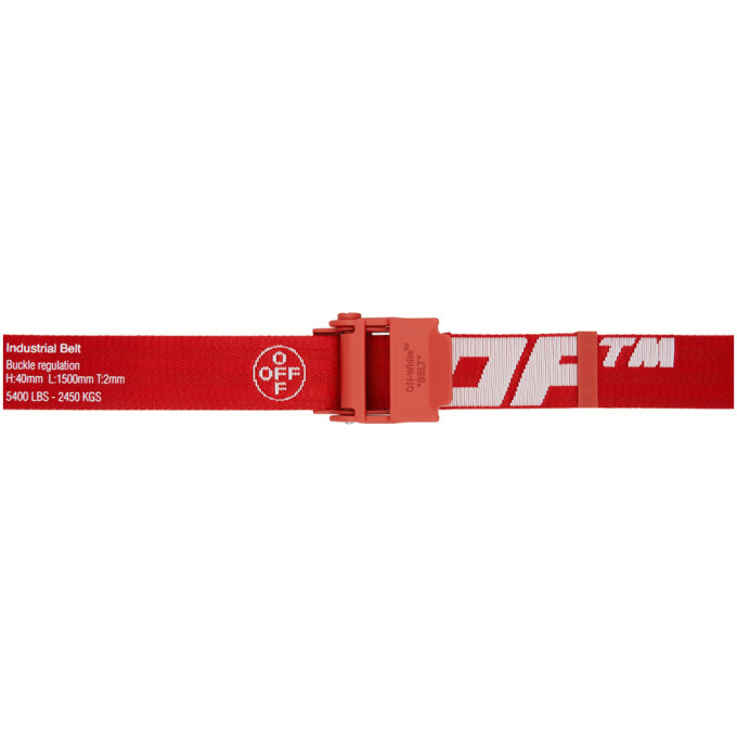 Off-White Red and White 2.0 Industrial Belt