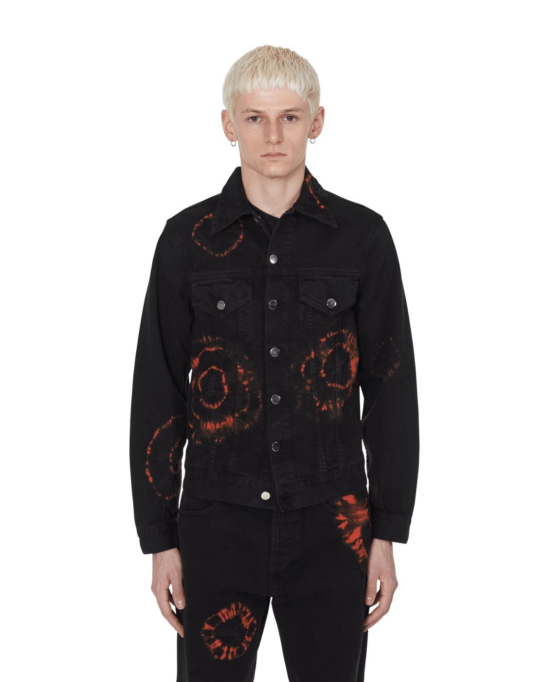 Aries Tie Dye Trucker Jacket Black/Orage