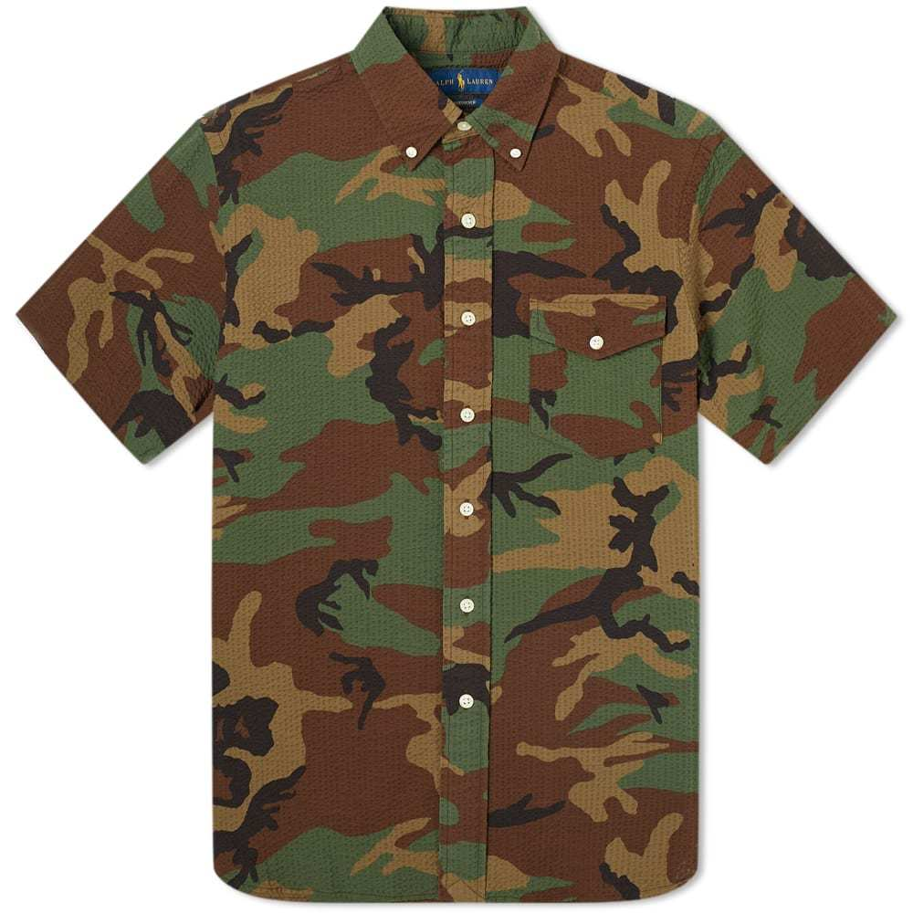 Photo: Polo Ralph Lauren Short Sleeve Seersucker Camo Shirt