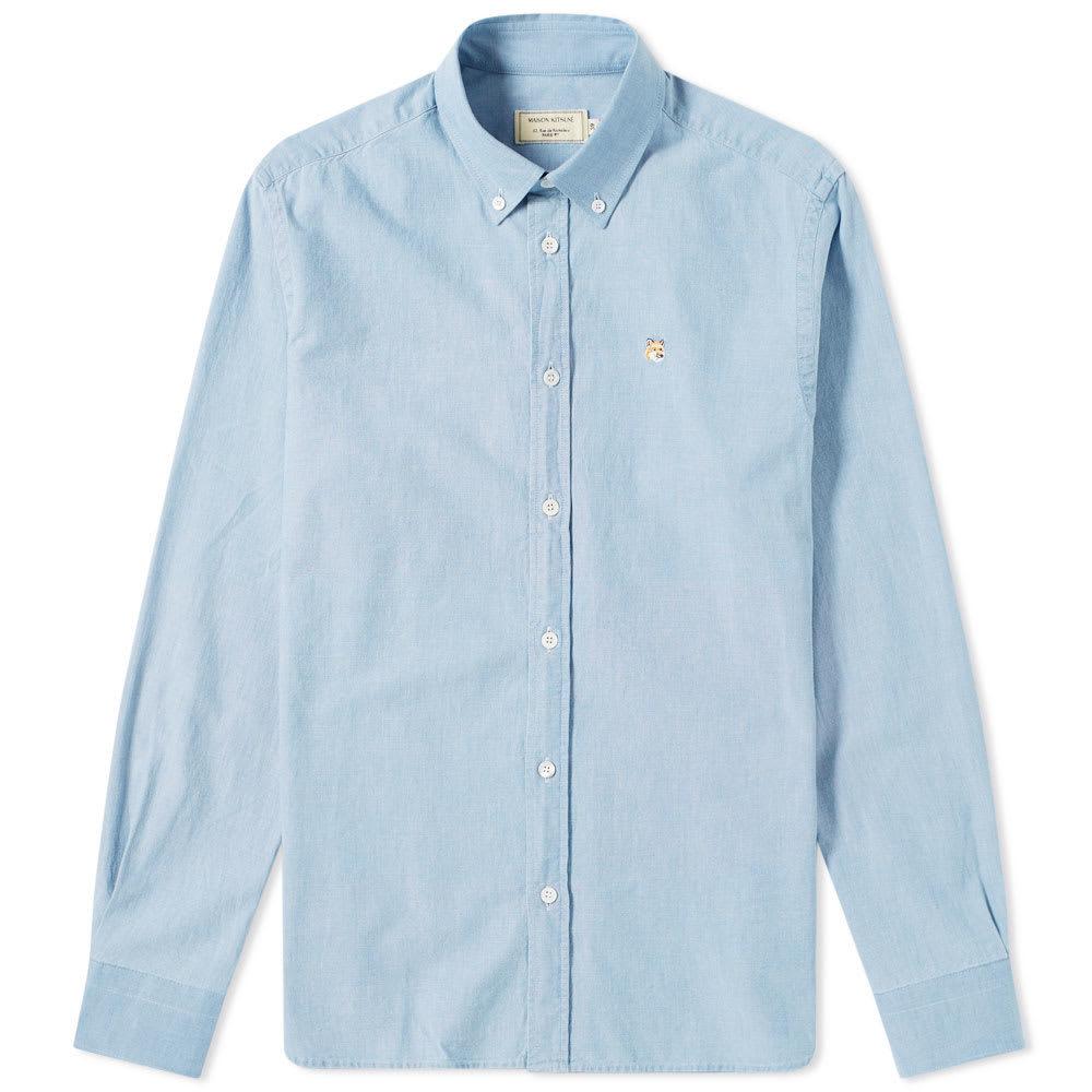 Photo: Maison Kitsuné Button Down Chambray Shirt