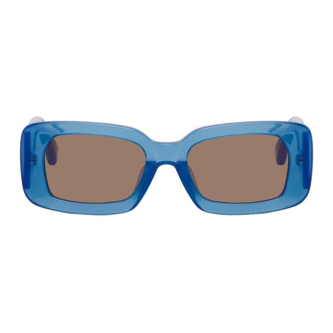 Photo: Dries Van Noten Blue Linda Farrow Edition 137 C2 Sunglasses