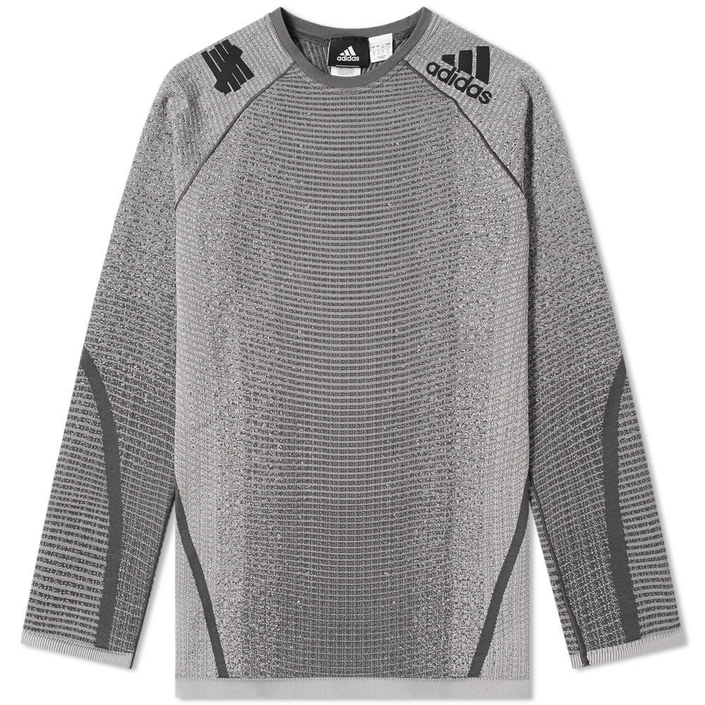 Adidas x Undefeated ASK Tech Tee Solid Grey & Utility Black