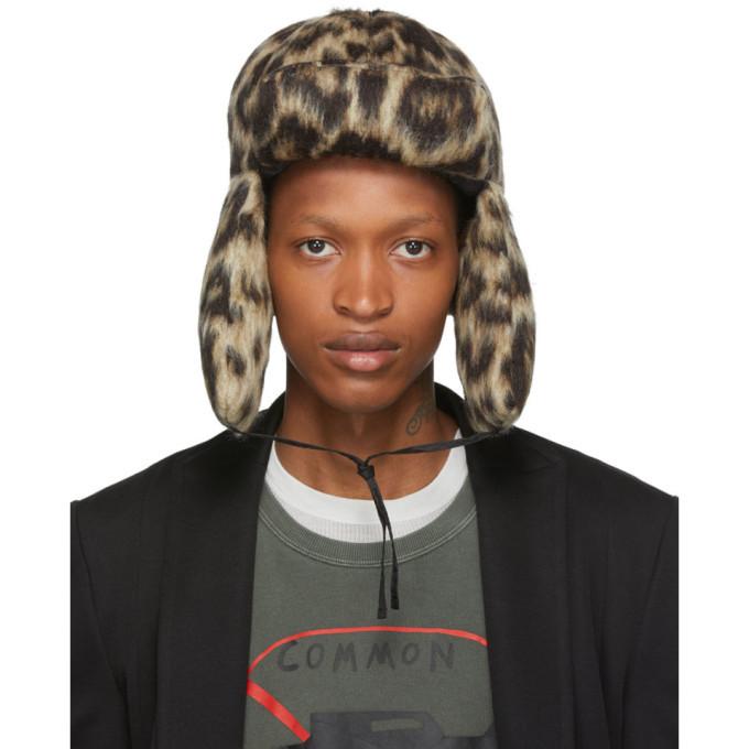 Photo: R13 Tan Leopard Wool Trapper Hat