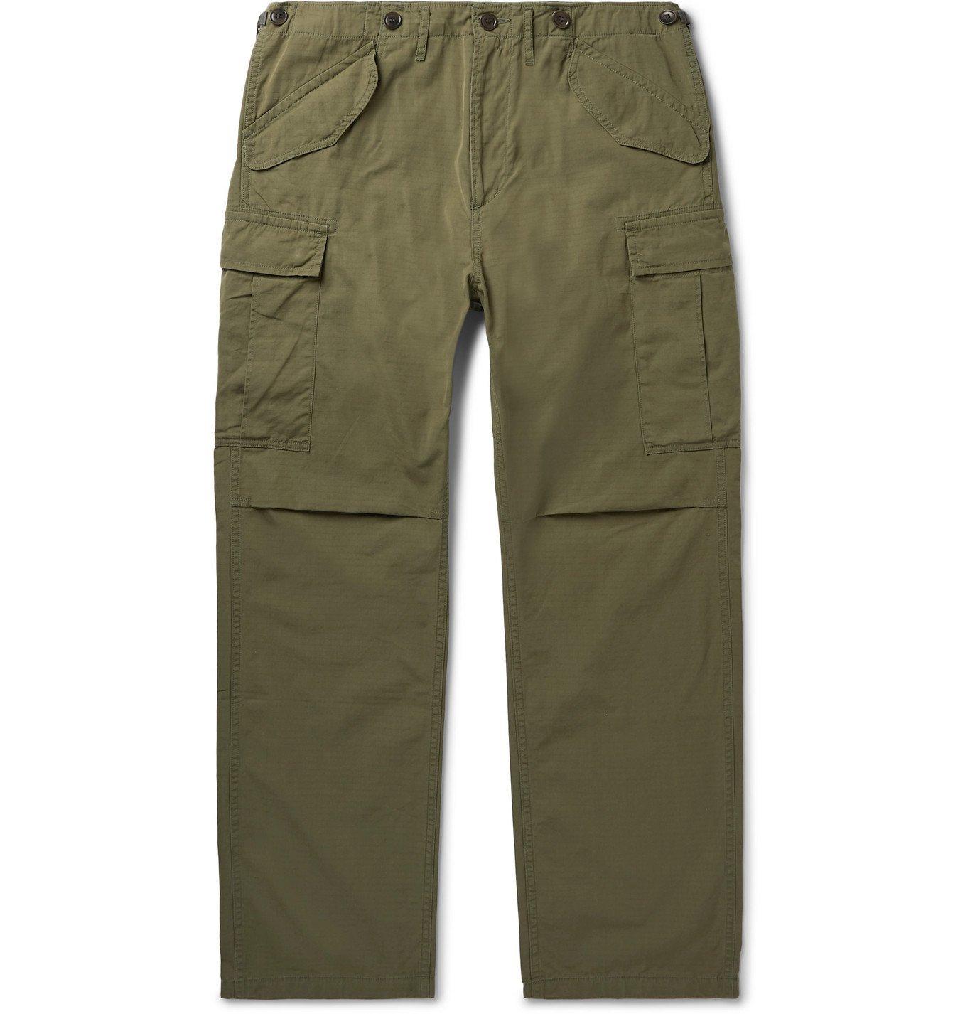 Photo: visvim - Jumbo Cotton-Blend Twill Cargo Trousers - Green