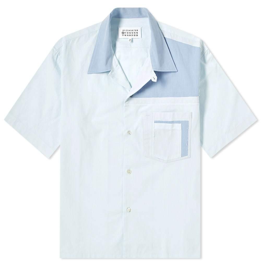 Photo: Maison Margiela 10 Cut & Sew Vacation Shirt Light Blue