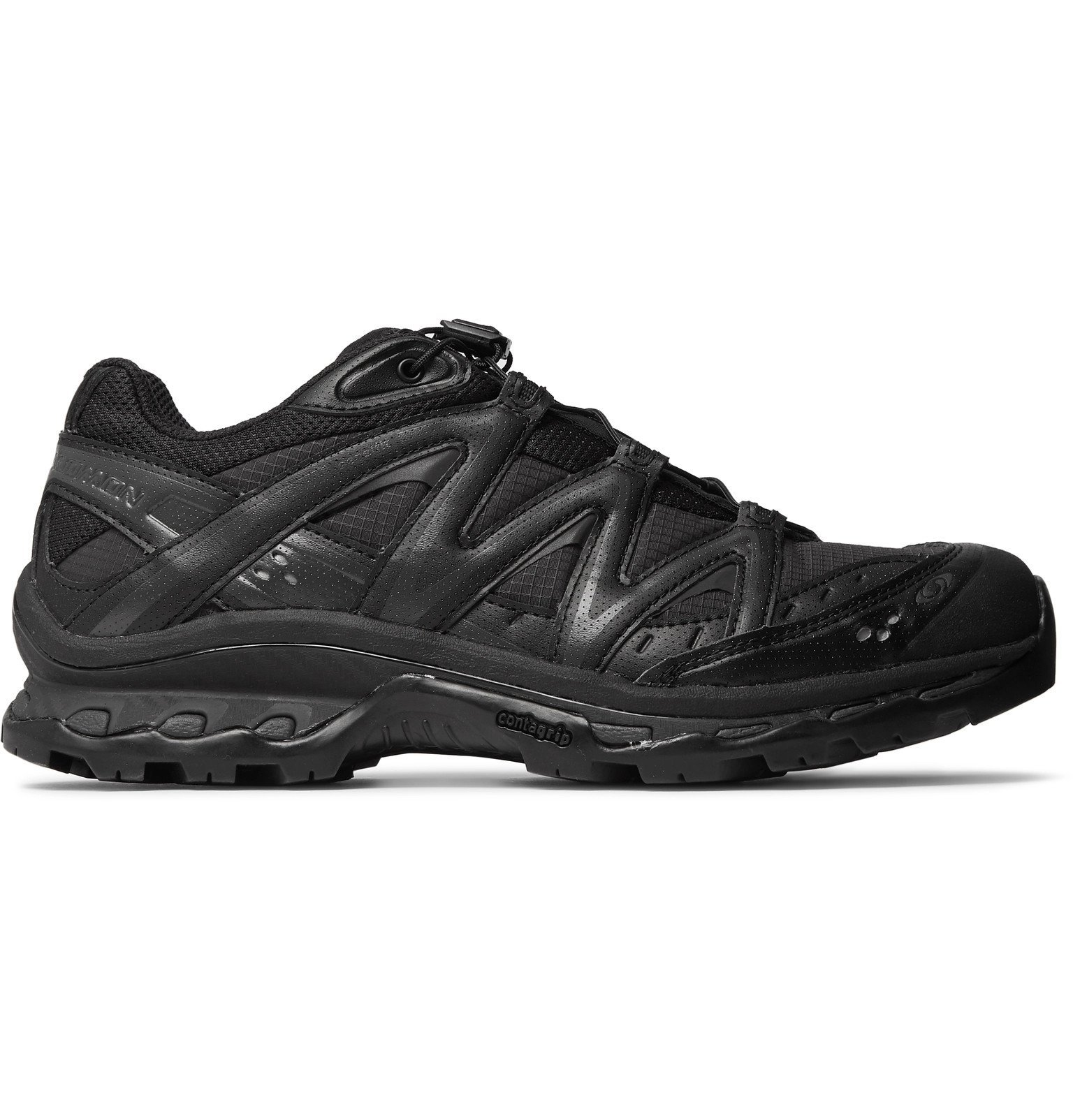 Photo: Salomon - XT-Quest ADV Mesh, Faux Leather, Ripstop and Rubber Running Sneakers - Black