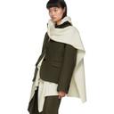 Sacai Khaki and Off-White Wool Melton and Knit Blazer