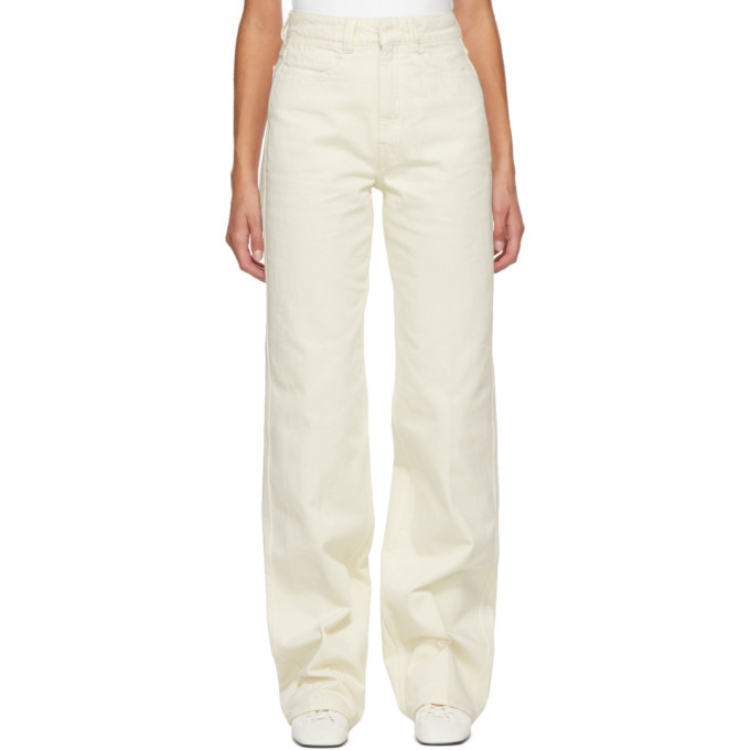 Photo: Lemaire Off-White Garment-Dyed Jeans