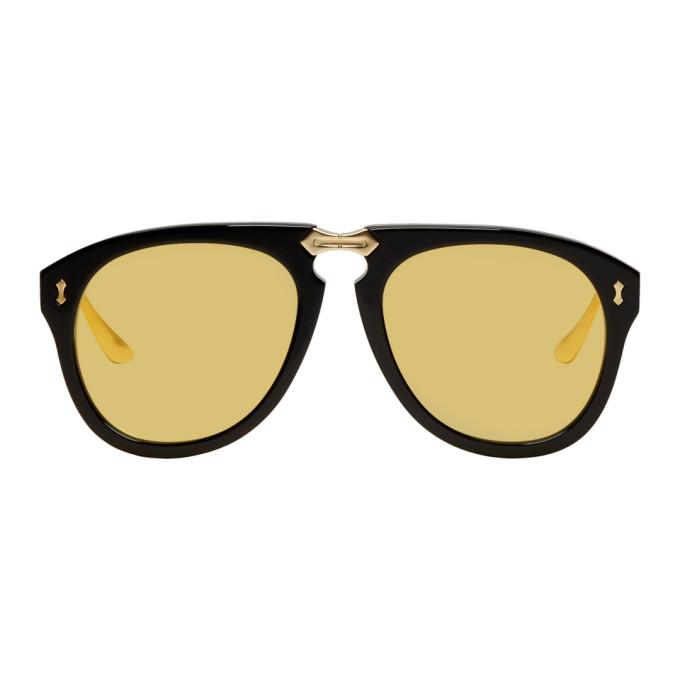 Photo: Gucci Black and Gold Fold-Up Aviator Sunglasses