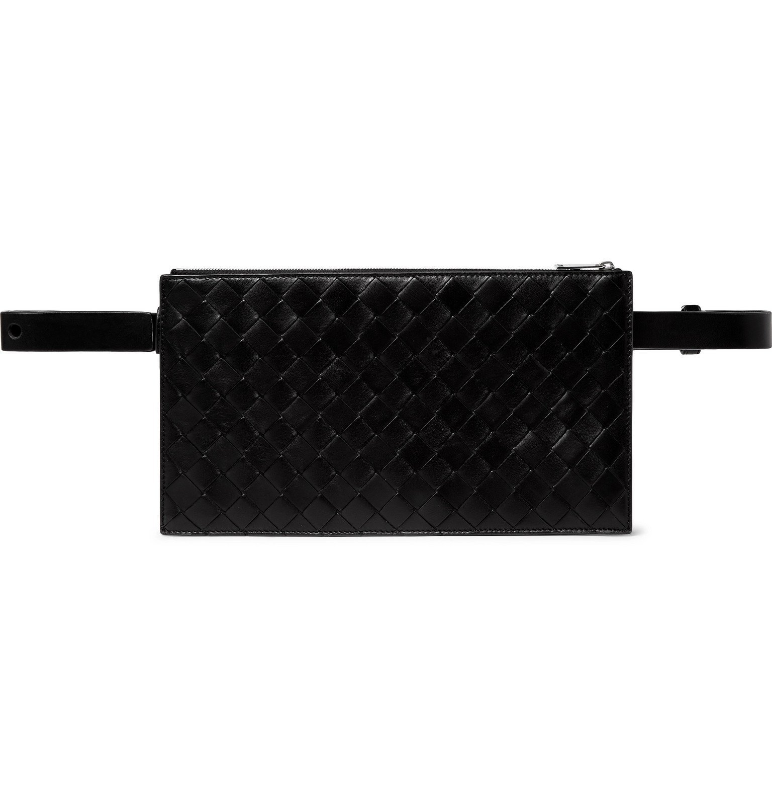 Photo: Bottega Veneta - Intecciato Leather Belt Bag - Black