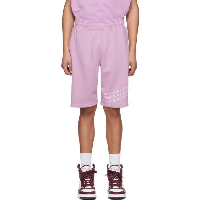 Photo: Givenchy Purple Logo Wave Shorts