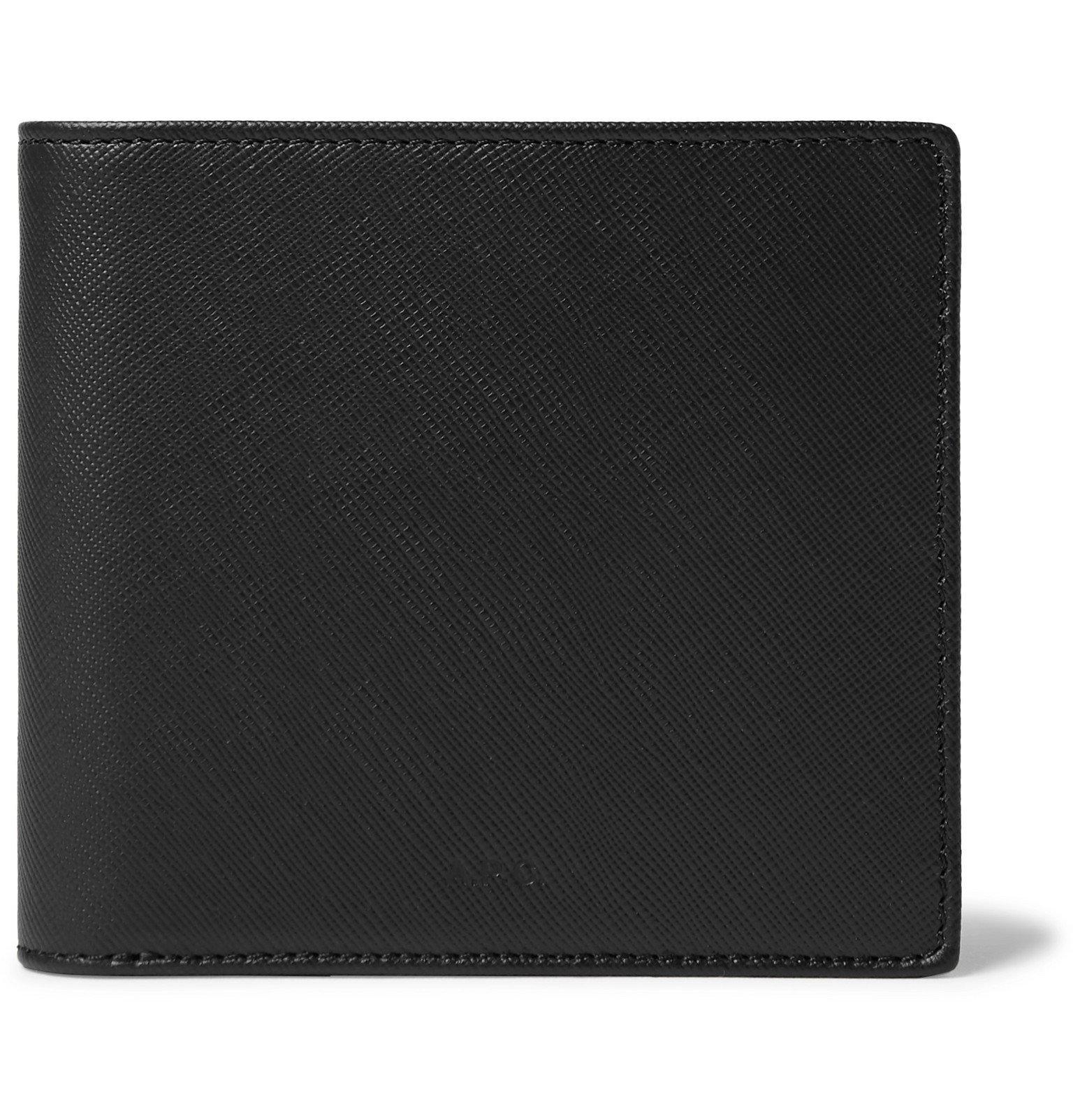 Photo: A.P.C. - Cross-Grain Leather Billfold Wallet - Black