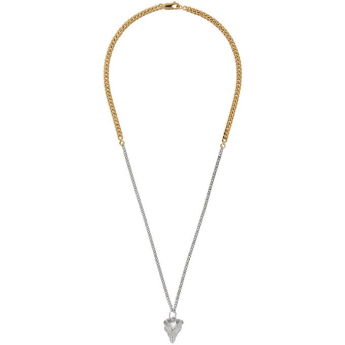 Photo: Maison Kitsune Gold and Silver Fox Head Necklace