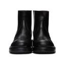 Raf Simons Black Text Chelsea Boots