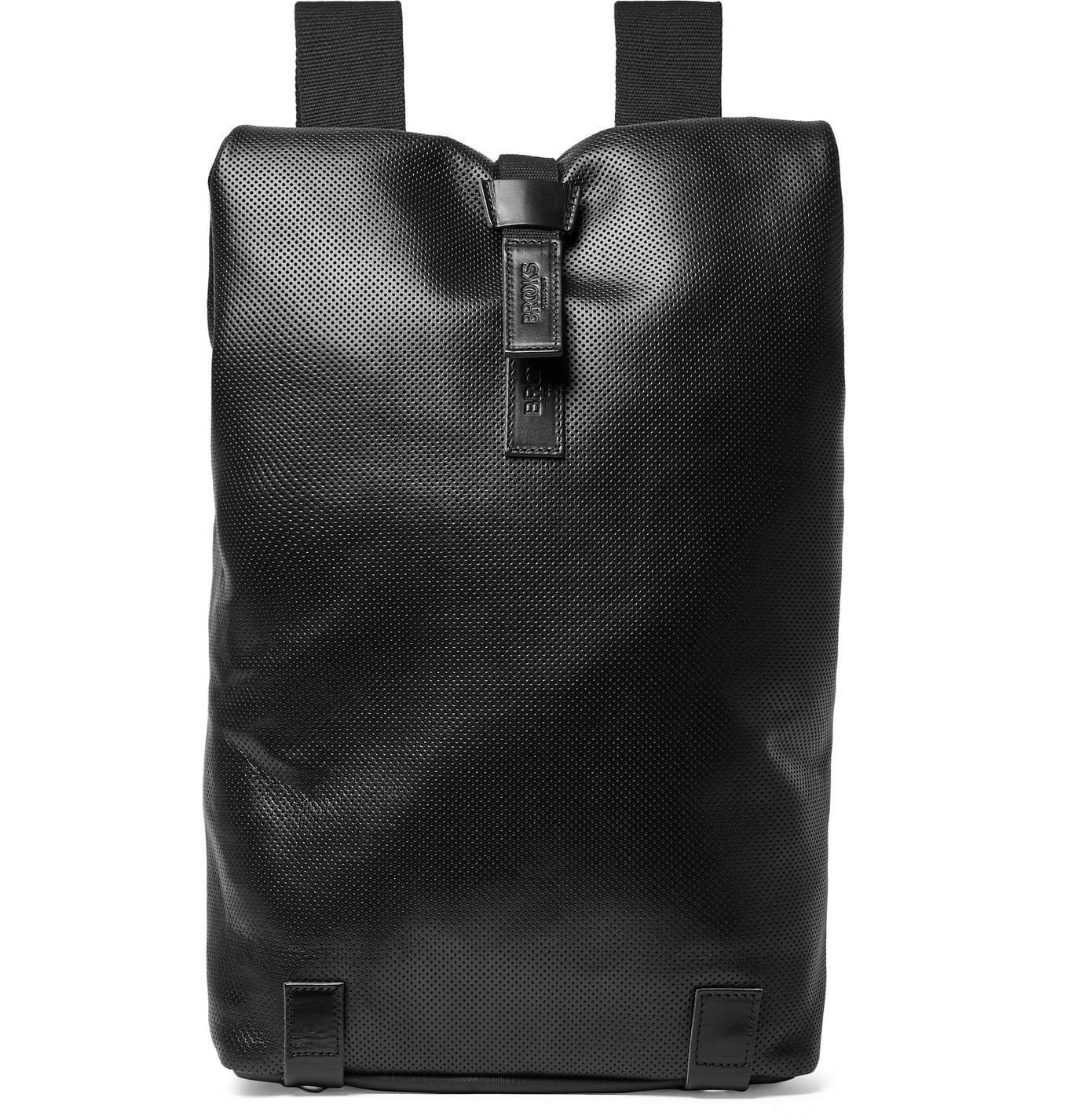 Photo: Brooks England - Pickwick Perforated Leather Backpack - Black