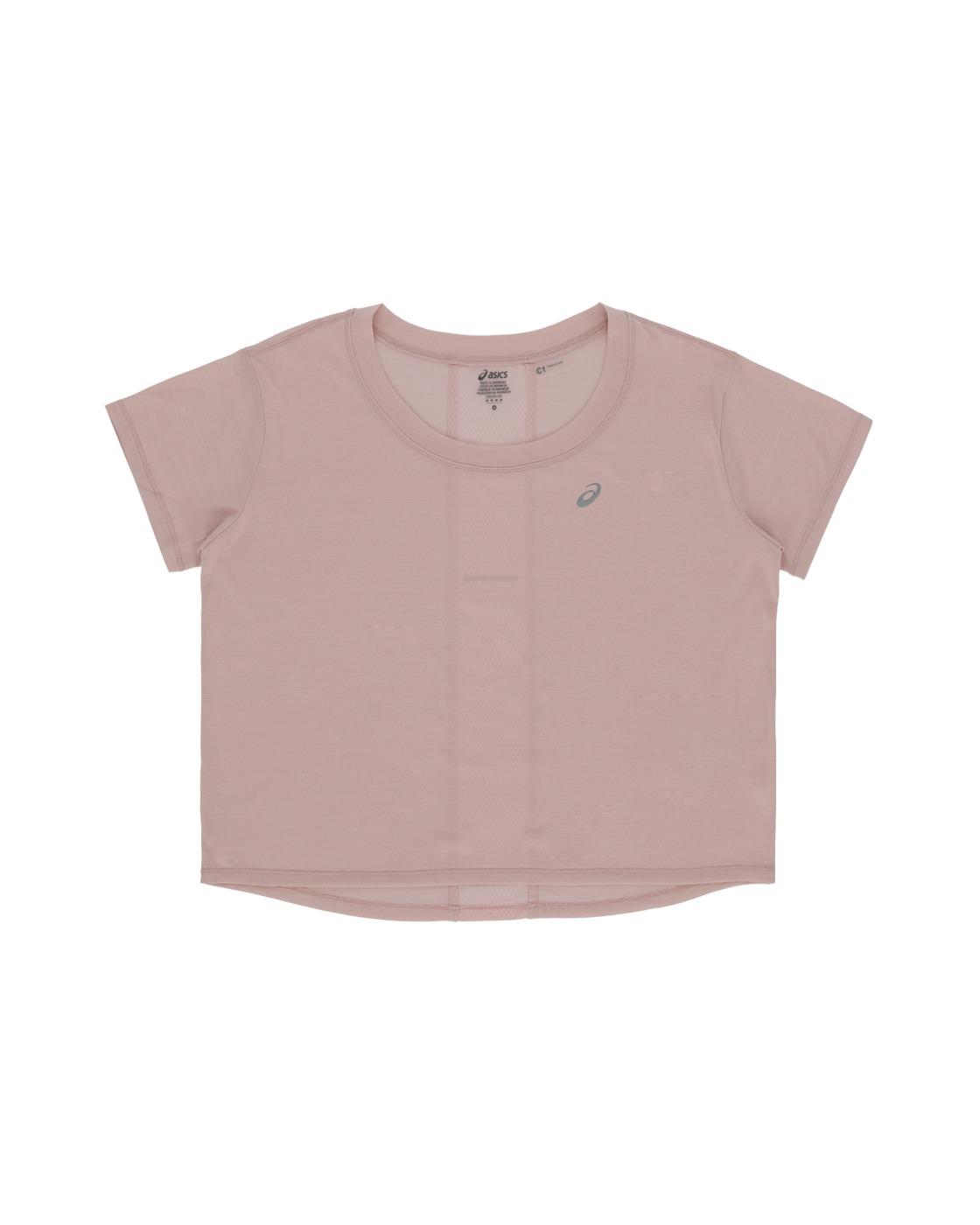 Asics Race Crop T Shirt Ginger Peach