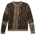 KAPITAL - Textured Cotton-Blend Sweater - Brown