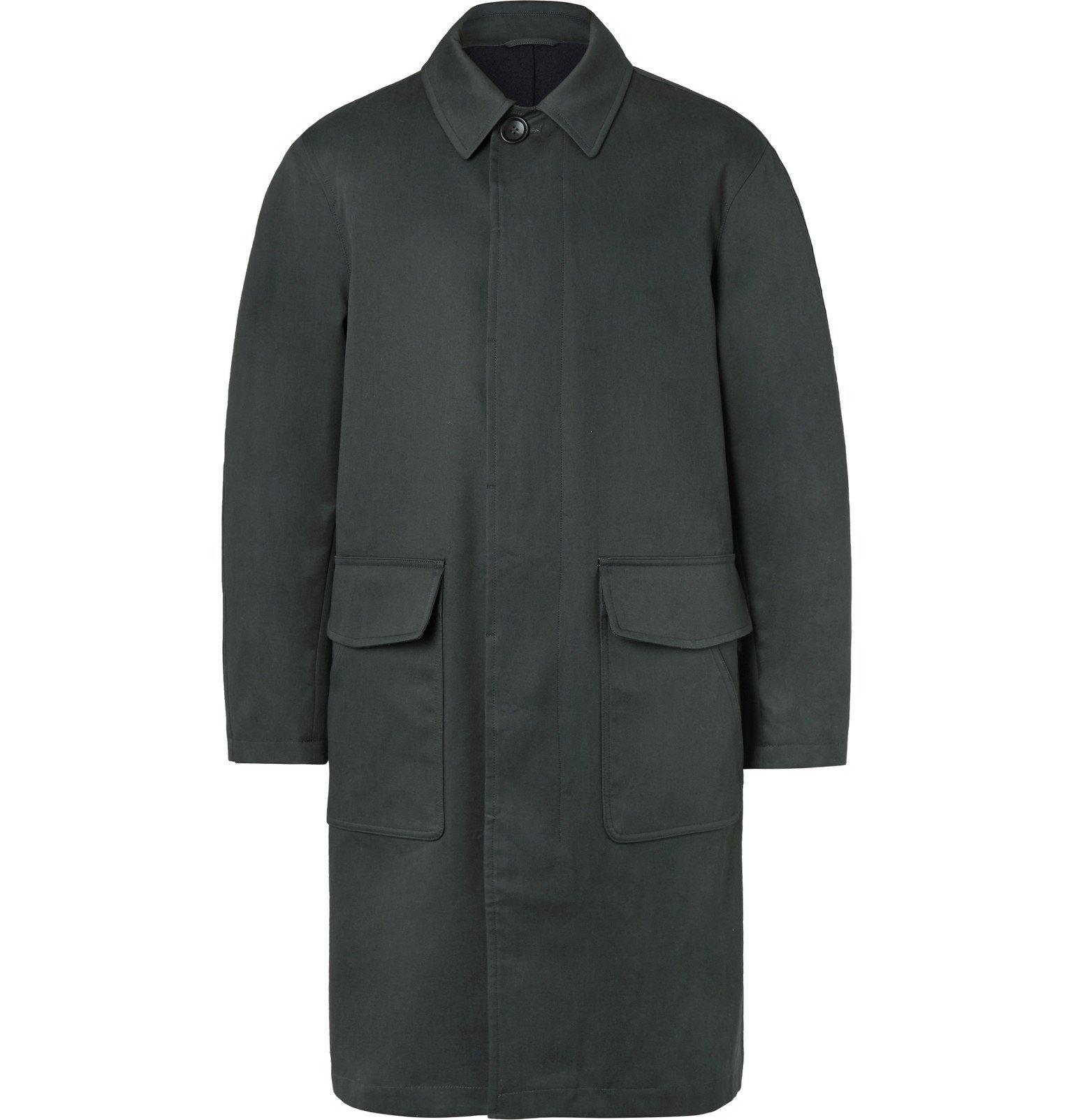 Photo: Mr P. - Oversized Bonded Cotton-Blend Raincoat - Gray