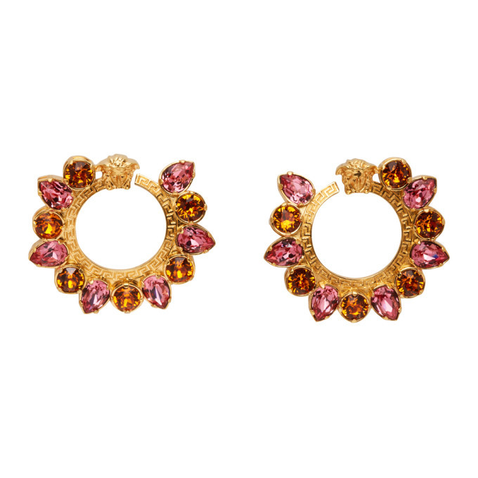 Photo: Versace Pink Crystal Jungle Medusa Earrings