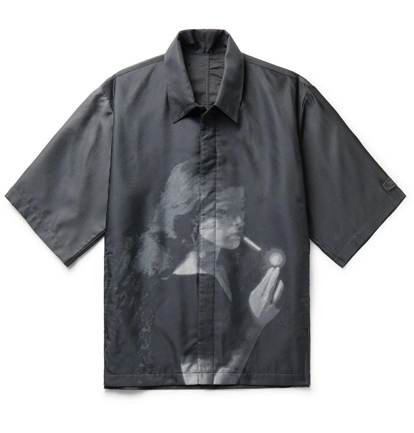 Photo: Undercover - Cindy Sherman Printed Shell Shirt - Black