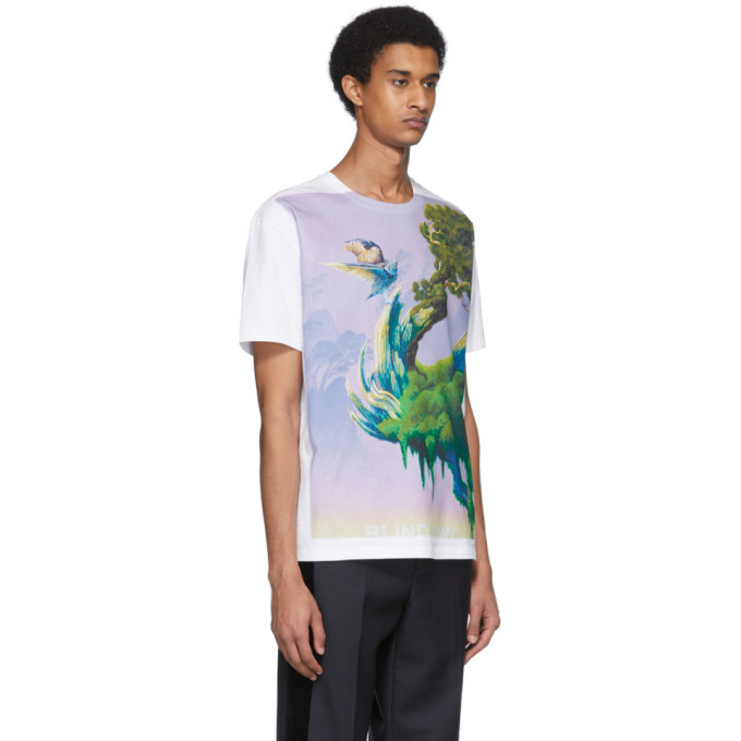 Valentino White Blind Owl T-Shirt
