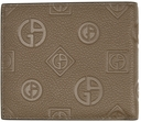 Giorgio Armani Brown Embossed Logo Bifold Wallet